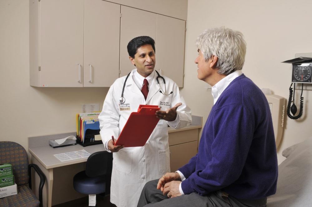 Dr. Vij with patient