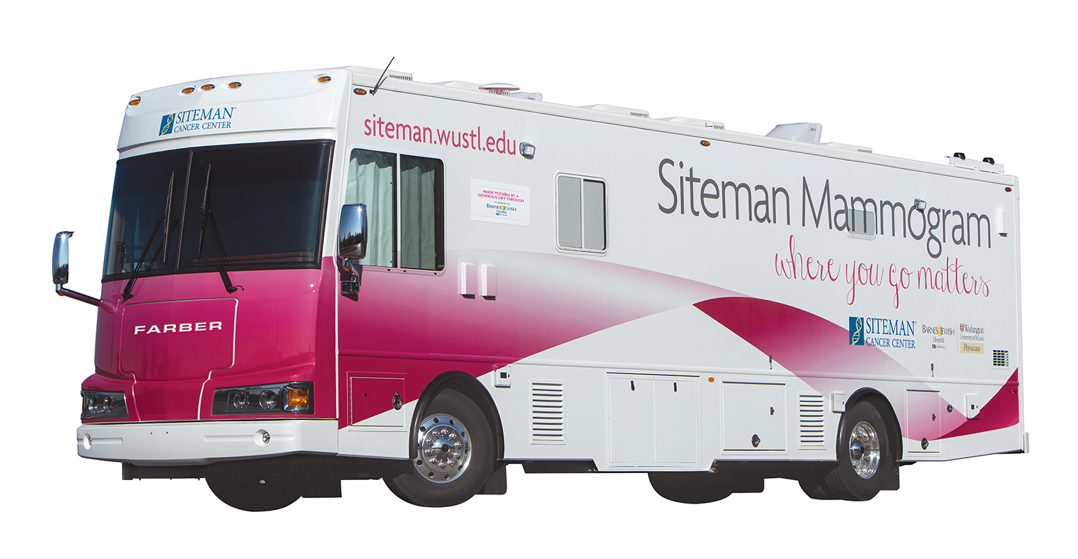 The new Siteman Cancer Center Mammography Van.  ©Photo by Jerry Naunheim Jr.