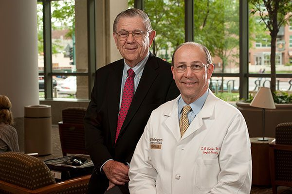Alvin J. Siteman and Siteman Cancer Center Director Timothy Eberlein, MD