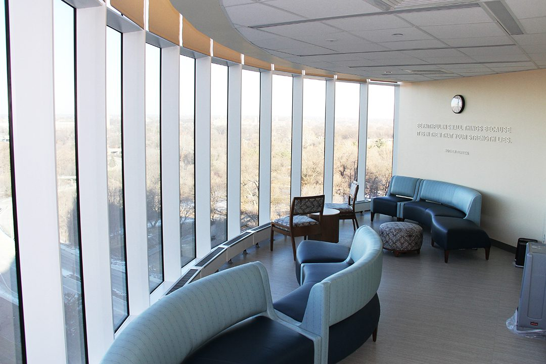 Patient and family quiet area