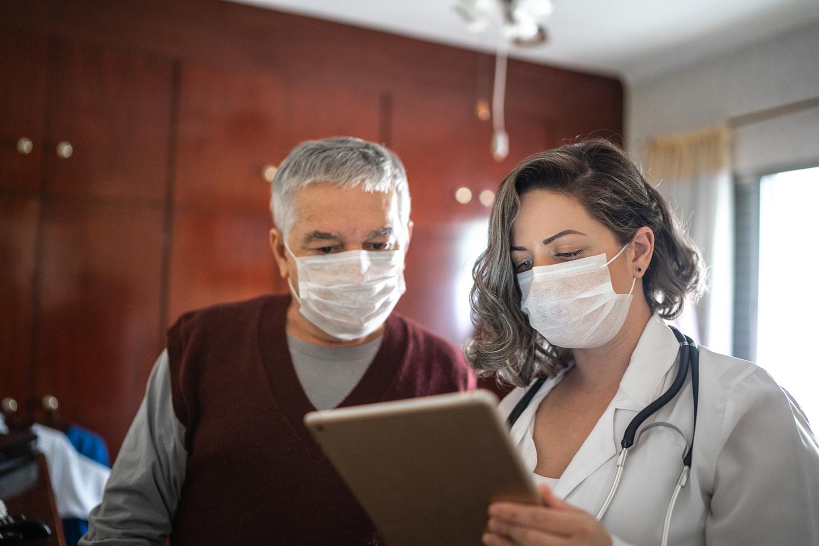 male patient at doctors visit